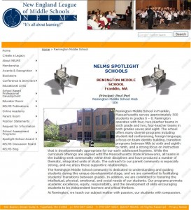 Franklin, MA Public Middle School Wins Award