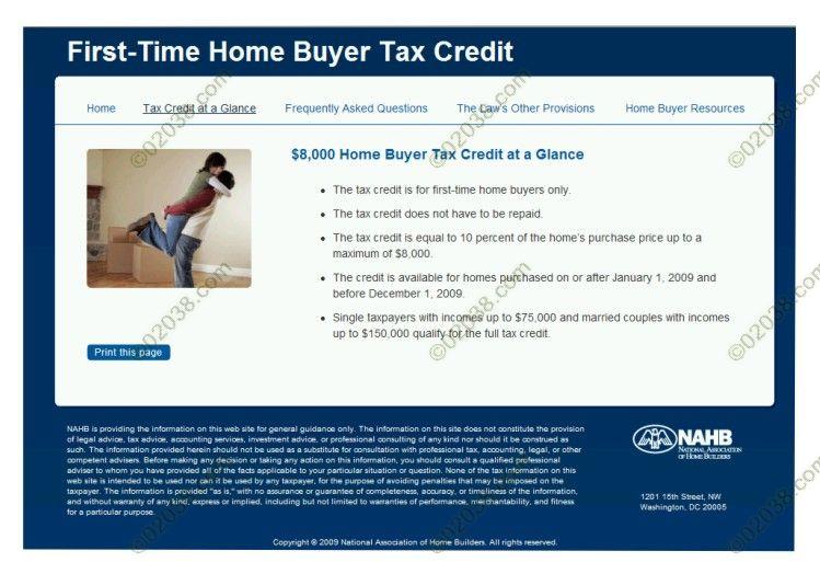 $8000 Tax Credit
