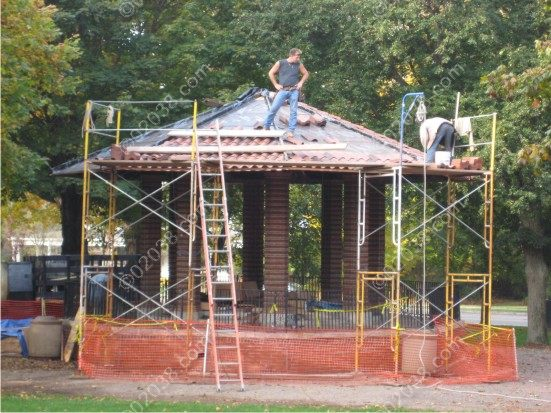 Franklin MA Town Common gazebo repairs 1