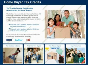 2009 - 2010 Home Buyer Tax Credit site
