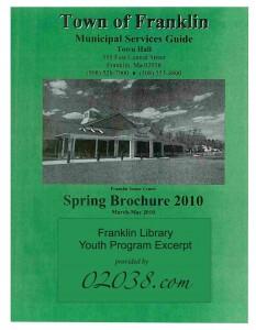 franklin ma library program guide 2010