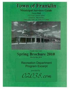franklin ma recreaton dept program guide 2010