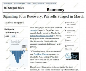 economy improving 2010