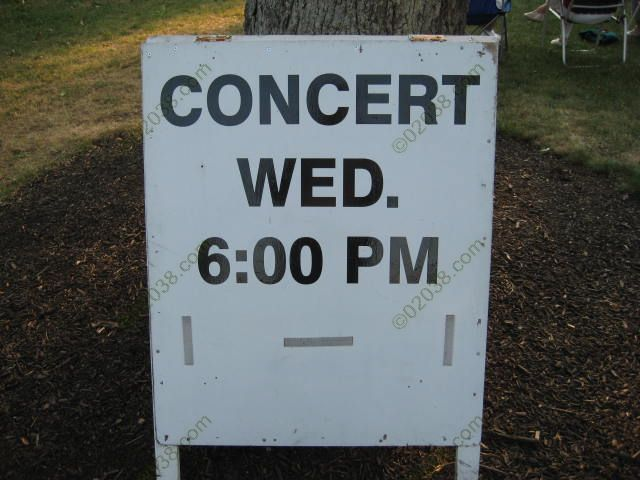 Franklin MA Concert Common Sign