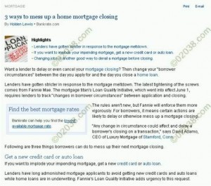 mortgage site