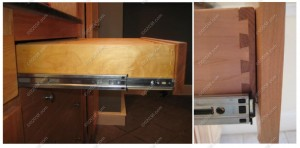 kitchen cabinets - dovetailed drawers - better quality glides