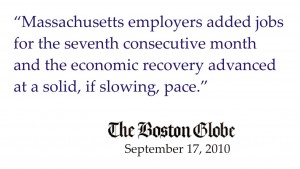 ma economy adds jobs sept 2010