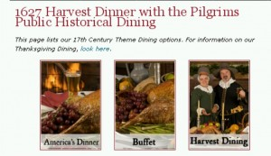 Dining at Plimouth Plantation