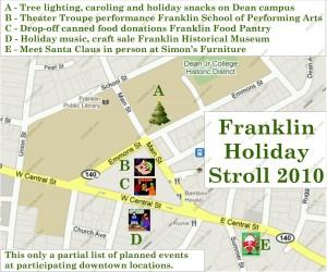 Franklin MA holiday stroll 2010