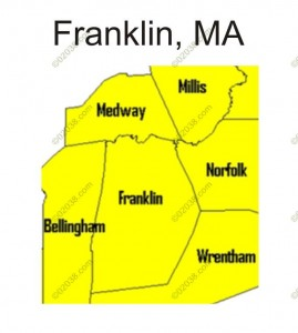 Map of Franklin MA