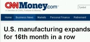 US manufacturing upswing 2010