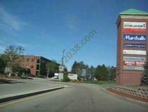 Franklin Village Shoping Center Franklin MA - sign