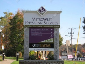MetroWest Physician Services Franklin MA - sign
