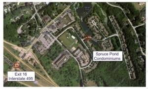 Spruce Pond Village condos Franklin MA - I495