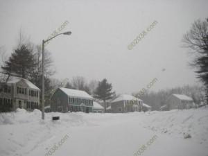 February 2011 snow Franklin MA