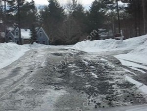 road deterioration Winterberry Dr Franklin MA