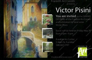 Franklin Art Center Franklin MA - gallery postcard