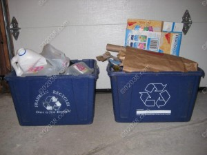Franklin MA dual stream recycling bins