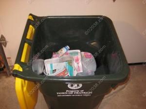Franklin MA single stream recycling bin