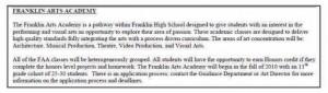 franklin ma high school FAA described