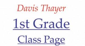 Davis Thayer elementarty school franklin ma 1st grade