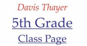 Davis Thayer elementary school franklin ma 5th grade