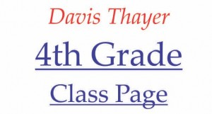 Davis Thayer elementary school franklin ma 4th grade