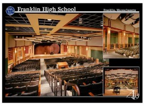 New Franklin MA High School - auditorium