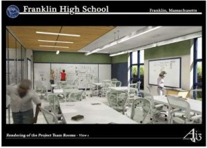 New Franklin MA High School - science lab project team rooms
