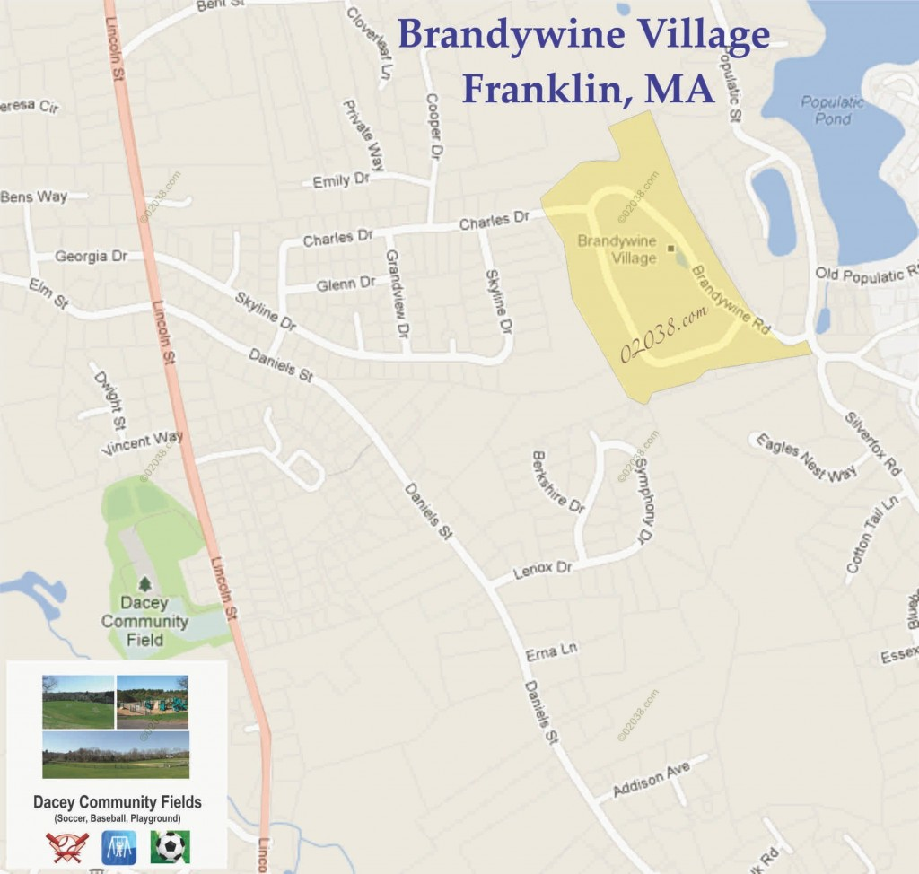 Brandywine Village Franklin MA map 1