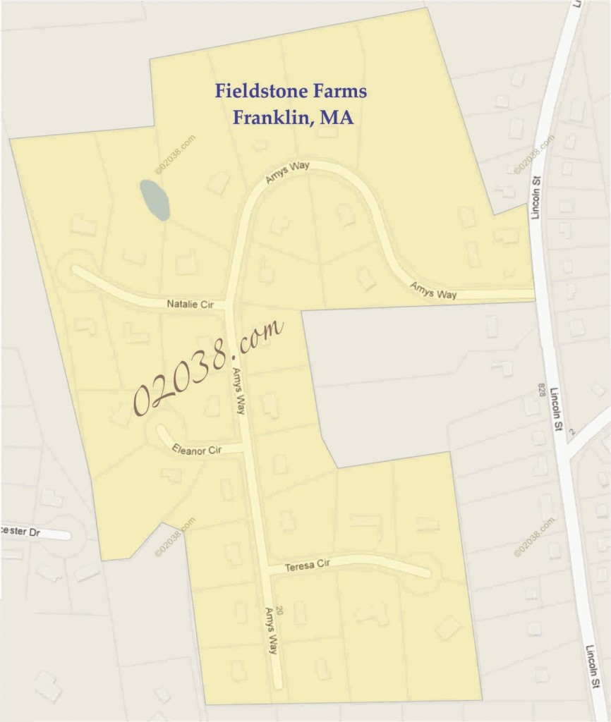 Fieldstone Farms Amys Way Franklin MA map2