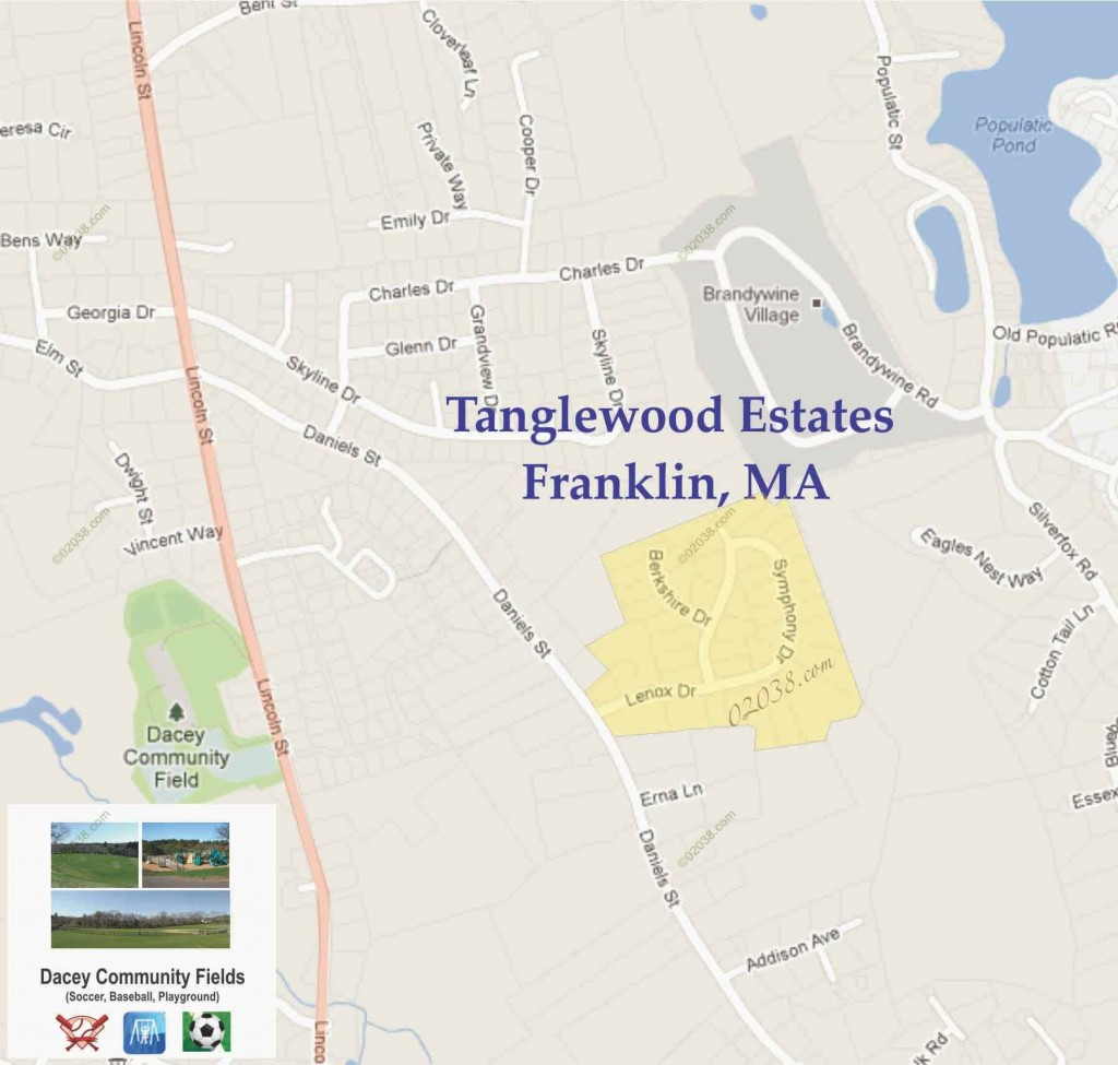 Tanglewood Estates Franklin MA map1