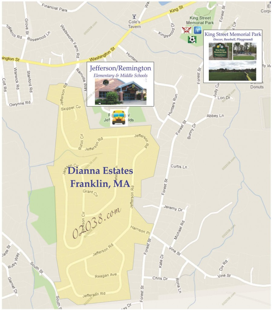 dianna estates franklin ma map