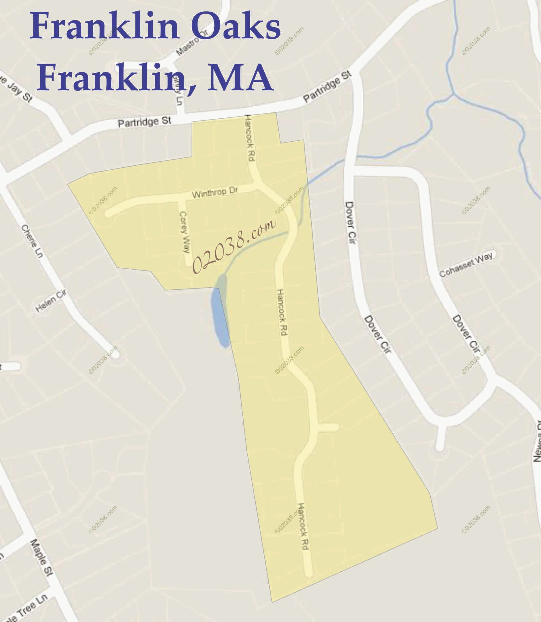 franklin oaks franklin ma map