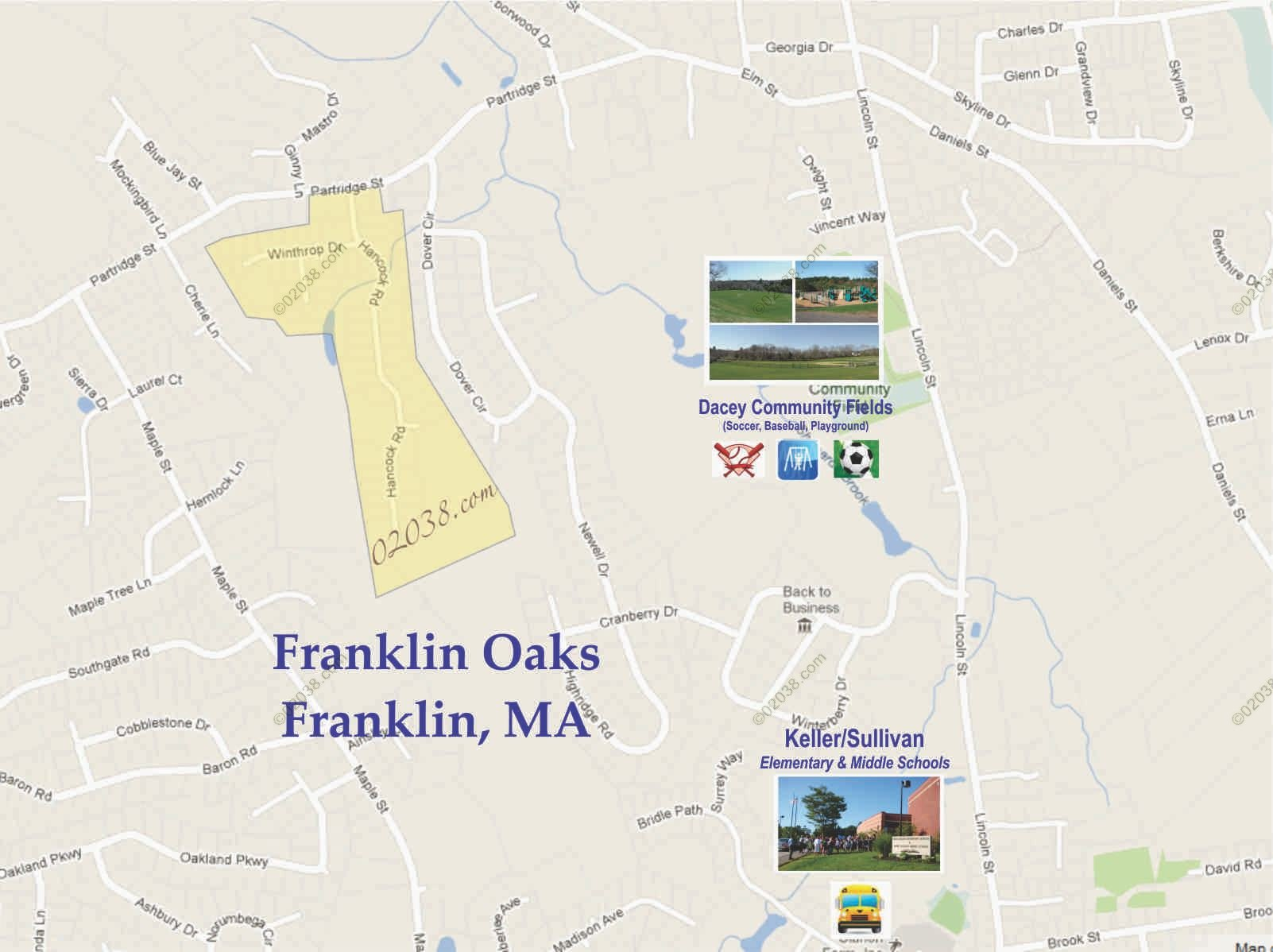 franklin oaks franklin ma map1