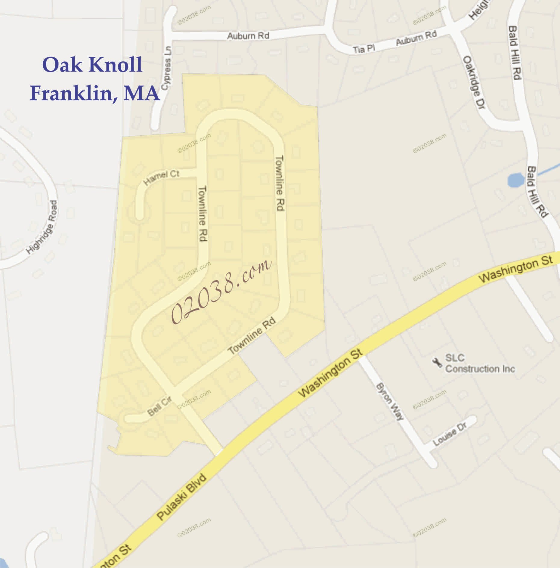 oak knoll franklin ma map2