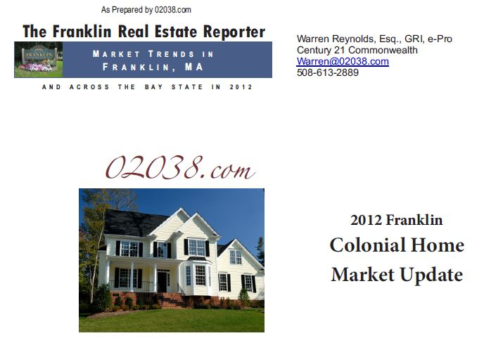 Franklin ma real estate 2012 recap colonial homes