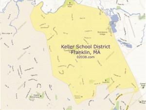 Keller-elementary-school-district-map-Franklin-MA