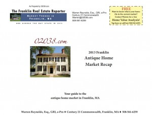 Frankln MA antique home market recap 2013 cover