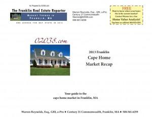Frankln MA cape home market recap 2013 cover