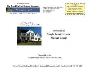 Frankln MA home market recap 2013 cover