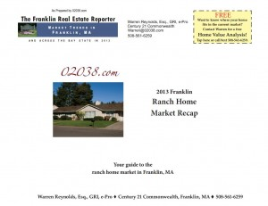 Frankln MA ranch home market recap 2013 cover