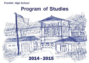 Franklin High School course of studies - cover