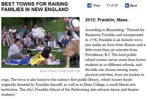 Franklin MA best towns Boston-com