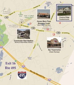 Chestnut Ridge Condos Franklin MA - location