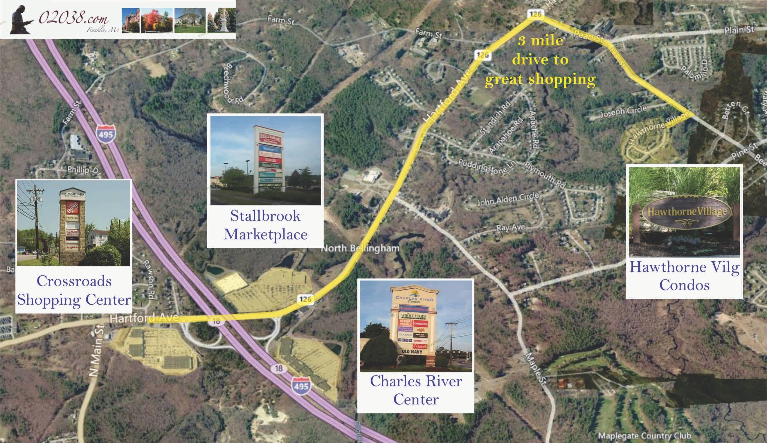 Hawthorne Village Condos Near Shopping I 495 Franklin