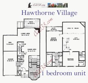 Hawthorne Village Franklin MA - 1 bedroom unit