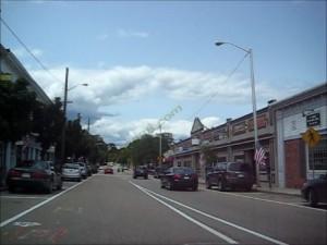 one-way traffic Main Street Franklin MA