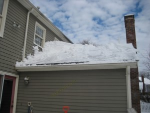 remove snow from roof